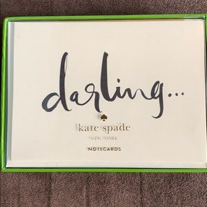 Kate spade dashing note card set 10 cards